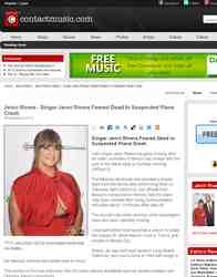 Singer Jenni Rivera Feared Dead In Suspected Plane: ContactMusic