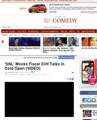 WATCH SNL Parodies Fiscal Cliff Talks: Huffington Post