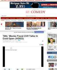 WATCH SNL Mocks Fiscal Cliff Talks: Huffington Post